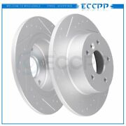 Rear Discs Brake Rotors For Land Rover Discovery 1999 - 2004 Slotted And Solid