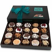 Oh Nuts Chocolate Covered Cookie Gift Baskets 20 Variety Gourmet Assortment