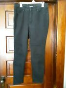 Time And Tru Black High Rise Skinny Jeans Size 16 Good Conditionandnbsp