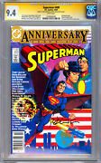 Superman 400 Cgc-ss 9.4 Signed By Jerry Robinson And Bernie Wrightson 1984