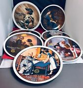 Mother's Day 7 Norman Rockwell Collectors Decorative Plates From 1977 To 1983