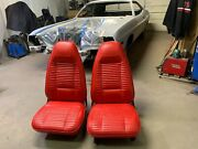 1970 Challenger Front Seats Restored And Matching Rear Seat Covers