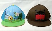Domo Snapback Flat Bill Hat And Adventure Time Snapback Lot One Size Fits Most