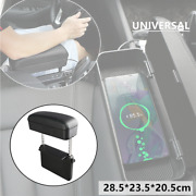 1×universal Car Wireless Charging Armrest Box Center Console Storage Box Leather