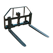 Titan 48-in Pallet Fork Hay Frame Attachment With Rack Receiver Hitch Spear