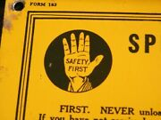 Vintage Rare 1922 Special Safety Instructions Standard Oil And Gas Co.. Metal Sign