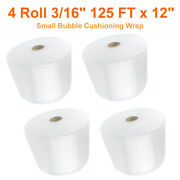 3/16x12 Clear Air Bubble Cushioning Wrap Roll Perforated 500ft Storage New