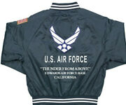 Edwards Air Force Base Ca Usaf Satin Jacketembroidered 1-sided Back Only