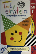 Baby Einsteinlanguage Nurseryvhs And Cd Included 2000tested-rare Vintage-ship24