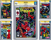 Spider-man 8-9-10-11-12 Cgc-ss 9.6 All 5 Signed By Artist Todd Mcfarlane 1991