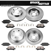Front And Rear Brake Disc Rotors And Ceramic Pads For Toyota Solara Camry Usa V6