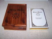 Holy Bible Dove Of Peace Catholic Edition With Wooden Box