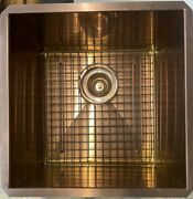 Rohl Rss1515sc Forze 16 Undermount 16-gauge Bar Sink Stainless Copper And Grid