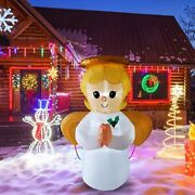 5 Ft Inflatable Christmas Angel Yard Decor With Bright Led Lights