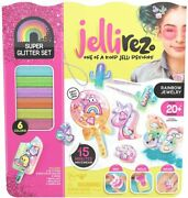 Jelli Rez Super Glitter Rainbow Pack - Quick And Easy Diy Resin Inspired Craft