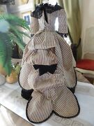 Antique Fashion Doll Dress 1800and039s Exquisite For French Or German 18