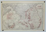 Antique Railroad Map Of Maryland D.c. And Delaware Rand Mcnally And Co. 1893