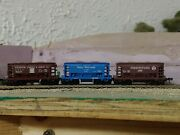 3x N Scale Atlas 70 Ton Ore Cars Linked Together Prr Atandsf Gn