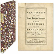 John Somers / Argument Of The Lord Keeper Sommers On His Giving Judgment 57196
