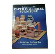 American Colortype Paper Dollhouse Furniture Antique Toy Reproduction Pre Ww1