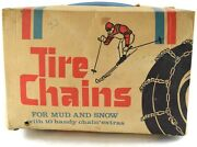 Pair Of Vintage Montgomery Ward Riverside Tire Chains Lug Reinforced Snow