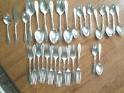 Vintage Stratford Silver Co Special Lot Of 32 Silverware Flower