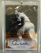 Paul Molitor Signed Sports Heroes Card Leaf Authentic Encased In Plastic