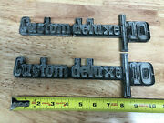 Pair Of Custom Deluxe 10 Fender Emblems For Vintage Chevy Pick Up Truck