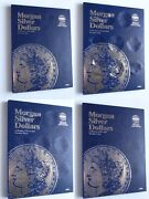 Set Of 4 - Whitman Morgan Silver Dollars Coin Folders Number 1-4 1878-1921 Book