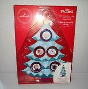 Hallmark Frozen Ii Mini Christmas Tree Ornaments With Disply Stand New 2020