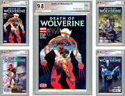 Death Of Wolverine 1-4 Pgx-ss 9.8 All 4 Sig 2x Charles Soule David Mcniven 2014