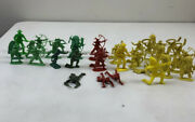 Vtg Mixed Lot Military Wild West Toy Soldier Figurines - Marx Bx12