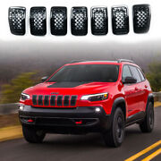 For Jeep Cherokee 2019-2021 Accesories Black Grill Inserts Trims Rims Cover Trim