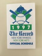 Mets And Yankees 1997 The Record Pocket Schedule - Rare