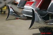 2002 Harley Road King Touring Chrome Fishtail Exhaust Muffler Cannister Pipes