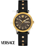 Versace Vedx00519 Theros Automatic Silver Gold Brown Black Menand039s Watch New