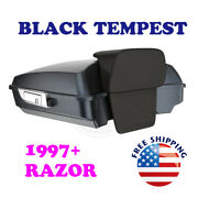 Black Tempest Tour Pack Pak Luggage Trunk Fit 1997-20 Harley Road Street Touring