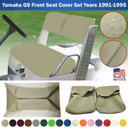 Yamaha G9 Golf Cart Front Seat Cover Set Vinyl Replacement 1991-1995 Staple On
