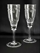 Two Clear Champagne Flute Glasses, Brand New, Fabolous, Varga / Faberge Crystal