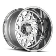22 Inch 22x12 American Truxx Forged Orion Polished Wheels Rims 8x170 -44