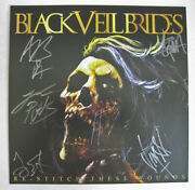 Black Veil Brides Re-stitch These Wounds Signed Biersack Jinxx Pitts Coma Flat