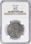 1812 Capped Bust Half Dollar 50 Ct Ngc Ms 62