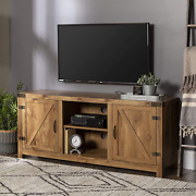 Walker Edison Furniture Company Farmhouse Barn Wood Universal Stand For Tv's Up