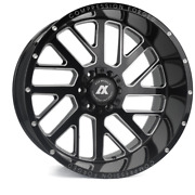 20 Inch 20x12 Axe Forged Ax2.0 Black Milled Wheels Rims 8x180 -44
