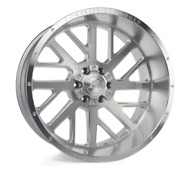22 Inch 22x10 Axe Forged Ax2.1 Silver Brushed Wheels Rims 8x180 -19
