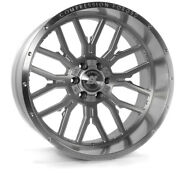 22 Inch 22x12 Axe Forged Ax6.1 Silver Brushed Wheels Rims 5x5.5 5x139.7 -44