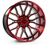 24 Inch 24x12 Axe Forged Ax6.2 Candy Red Wheels Rims 6x5.5 6x139.7 -44