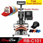 Cap Heat Press Machine Digital Diy Sublimation Hats Transfer Double Display 220v
