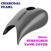 Charcoal Pearl Stretched Tank Cover Fit Harley 2008-2020 Street Road Glide