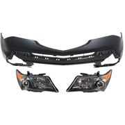 Set Of 3 Hid Headlights Lamps Left-and-right Hid/xenon Lh And Rh For Acura Mdx